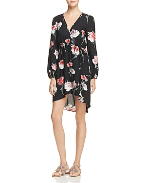 Band of Gypsies Floral Faux Wrap Dress