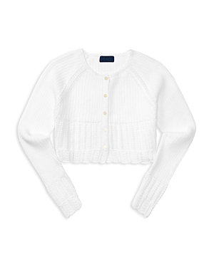 Ralph Lauren Childrenswear Girls Cropped Cardigan  Big Kid