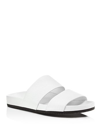 Vince - Women's Georgie Leather Pool Slide Sandals