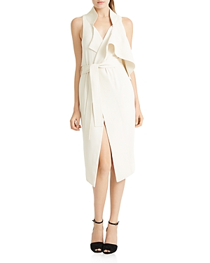 Halston Heritage Asymmetric Wrap Dress