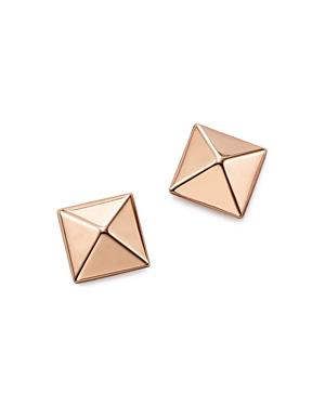 14K Rose Gold Medium Pyramid Post Earrings - 100% Exclusive