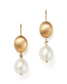 Bloomingdale's - Cultured Freshwater Pearl Drop Earrings in 14K Yellow Gold, 11mm - 100% Exclusive