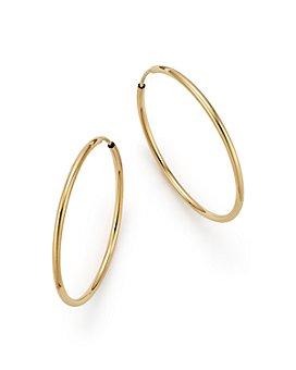 Bloomingdale's - 14K Gold Endless Hoop Earrings - 100% Exclusive