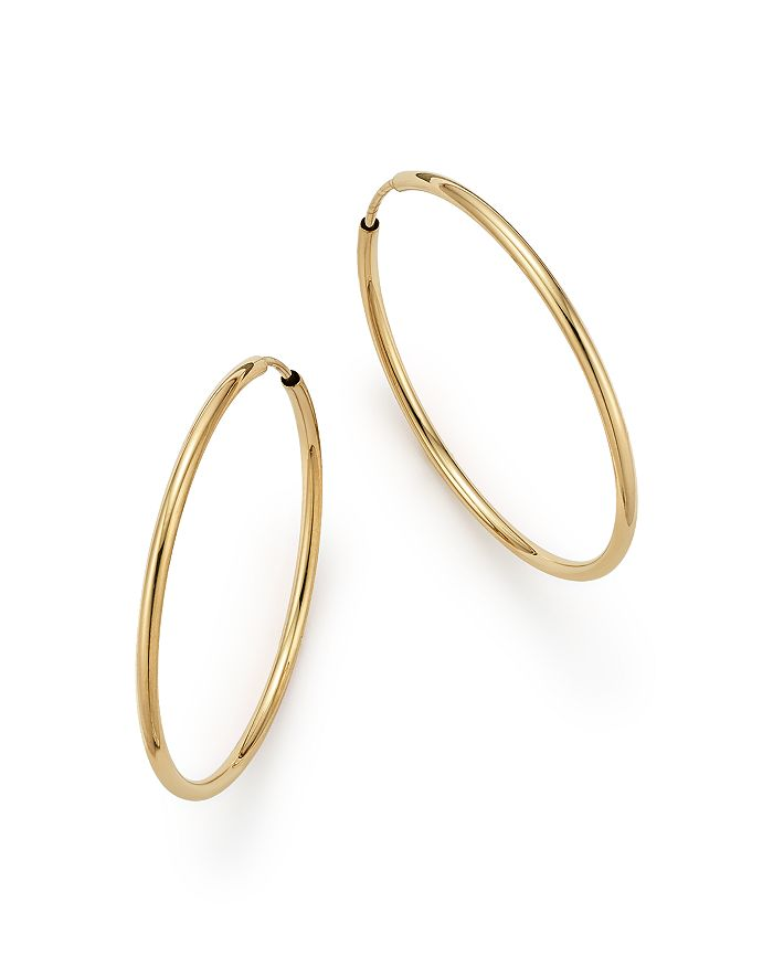 14k Gold Endless Hoop Earrings 100 Exclusive