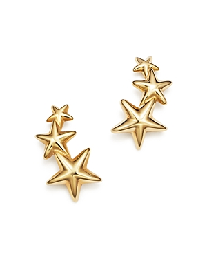 14K Yellow Gold Triple Star Climber Earrings - 100% Exclusive