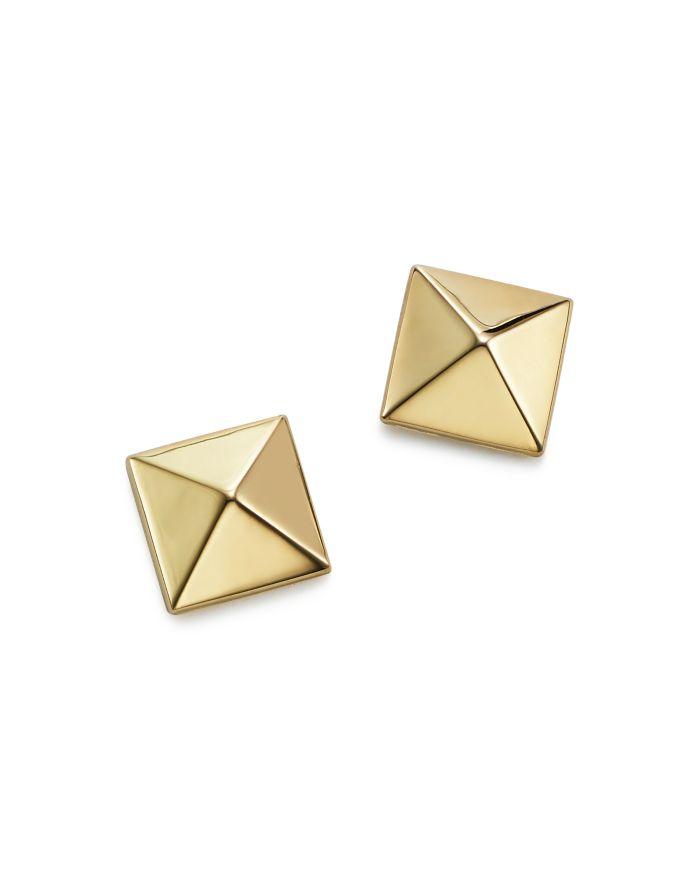 Bloomingdale's Pyramid Post Earrings in 14K Yellow Gold - 100% Exclusive  | Bloomingdale's