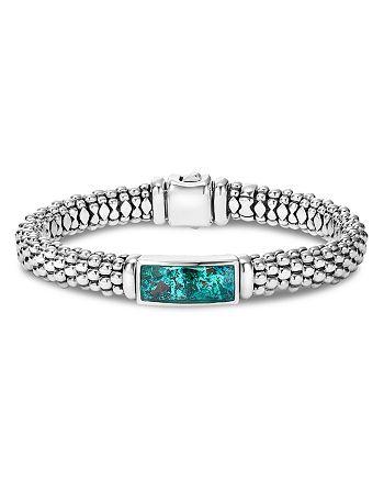 LAGOS - Sterling Silver Maya Escape Chrysocolla Doublet Rope Bracelet