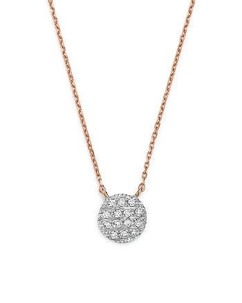 Dana Rebecca Designs - 14K White & Rose Gold Lauren Joy Mini Necklace with Diamonds