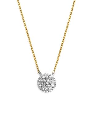 Dana Rebecca Designs 14K White & Yellow Gold Lauren Joy Mini Necklace with Diamonds
