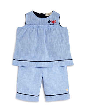 Armani Junior Girls' Linen Tunic & Shorts Set - Baby