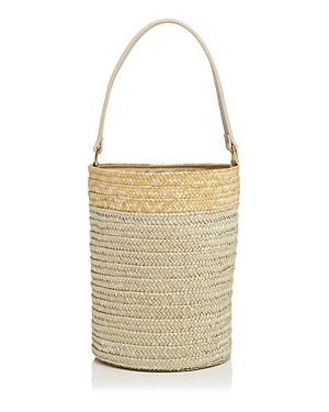 Caterina Bertini Small Straw Bucket Bag