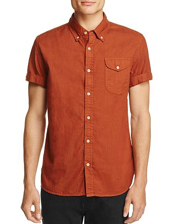 JACHS NY - Textured Slim Fit Button-Down Shirt