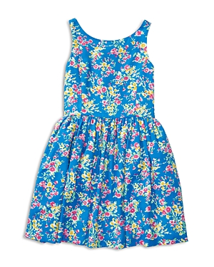 Ralph Lauren Childrenswear Girls' Floral Twill Dress - Big Kid