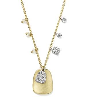 Click here for Meira T 14K White and Yellow Gold Disc Pendant Nec... prices