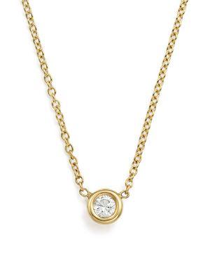 Zoe Chicco 14K Yellow Gold Choker with Diamond Pendant, 14