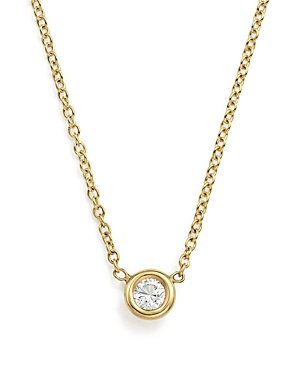 Zoe Chicco 14K Yellow Gold Choker with Diamond Pendant, 14