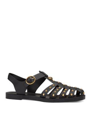 Gucci Men's Rubber Buckle Strap Sandals