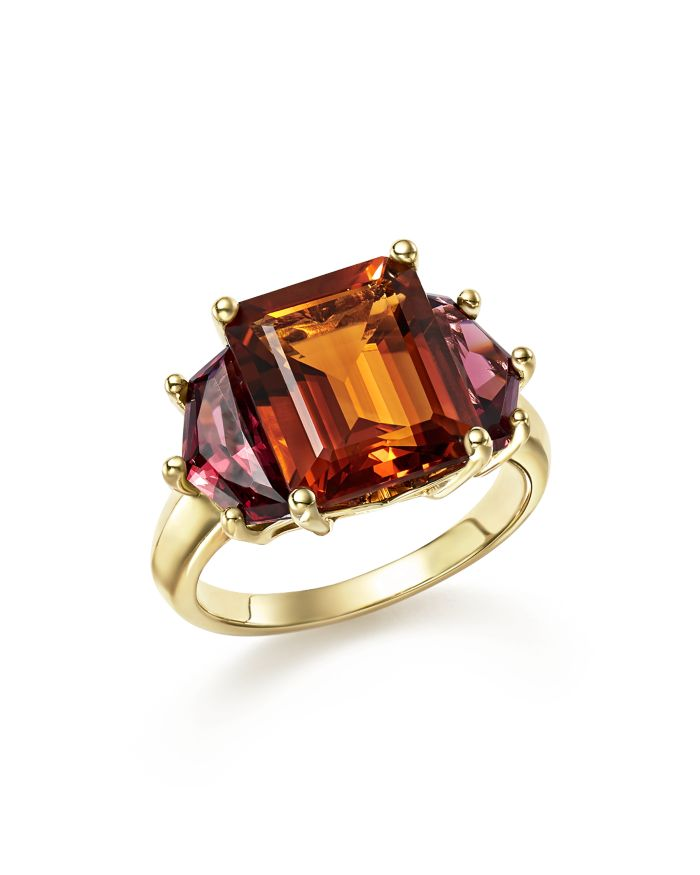 Bloomingdale's Citrine and Garnet Statement Ring in 14K Yellow Gold - 100% Exclusive  | Bloomingdale's
