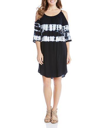Karen Kane - Tie-Dye Cold-Shoulder Dress