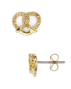 Marc Jacobs Pave Pretzel Single Stud Earring