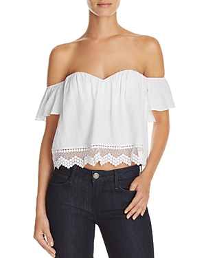 Cotton Candy La Off the Shoulder Lace Hem Top - 100% Exclusive