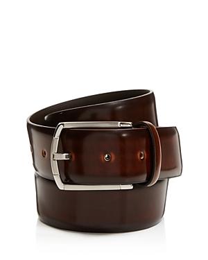 Canali Burnished Cordovan Leather Belt