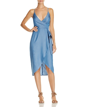 Lovers and Friends Orchid Chambray Wrap Effect Dress