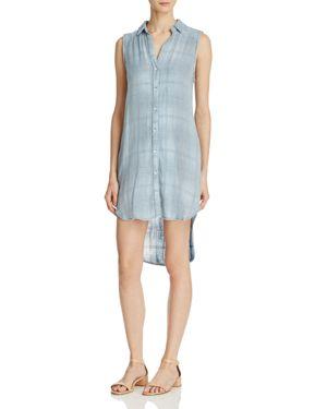 Bella Dahl Crossed Yoke Plaid Dress
