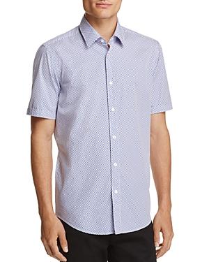 Boss Luka Dot Print Regular Fit Button-Down Shirt