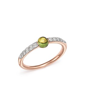 Pomellato - M'Ama Non M'Ama Ring with Peridot and Diamonds in 18K Rose Gold