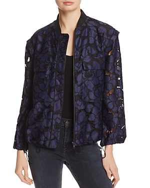 Kendall and Kylie Floral Lace Bomber Jacket