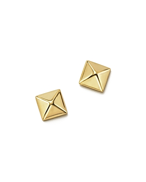 14K Yellow Gold Small Pyramid Post Earrings - 100% Exclusive