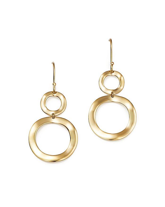 18k Gold Snowman Earrings