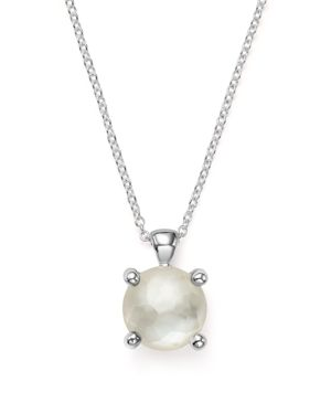 Ippolita Rock Candy Single Stone Slide Thru Necklace in MotherofPearl, 16-18