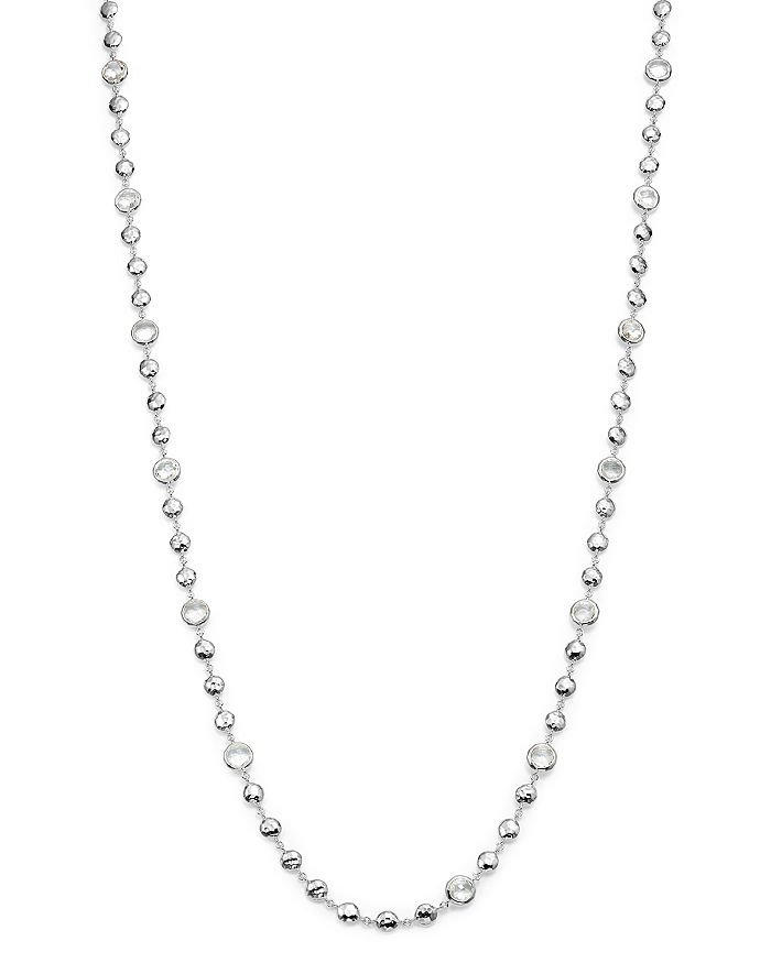 """IPPOLITA - Sterling Silver Rock Candy® Long Multi Stone Necklace in Clear Quartz, 40"""""""