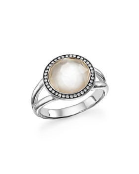 IPPOLITA - Ippolita Sterling Silver Stella Ring in Mother-of-Pearl with Diamonds