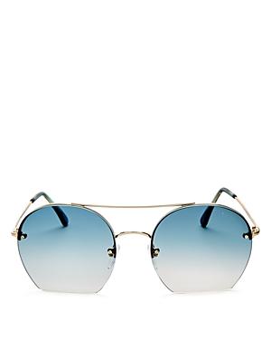 Tom Ford Round Sunglasses, 56mm
