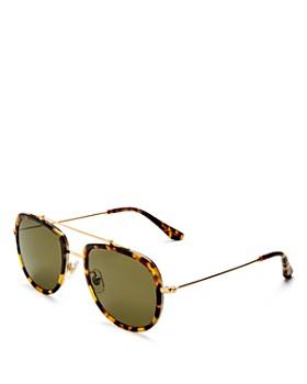 Krewe - Women's Breton 24K Polarized Aviator Sunglasses, 52mm