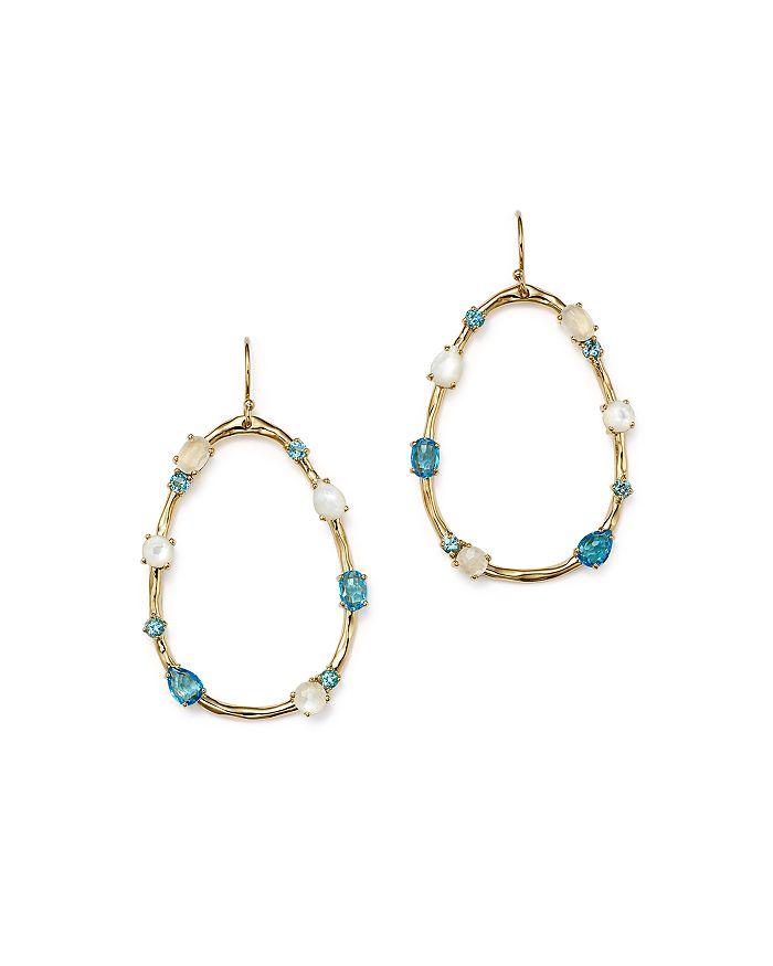 IPPOLITA - 18K Yellow Gold Rock Candy® Mixed Doublet Open Drop Earrings in Raindrop