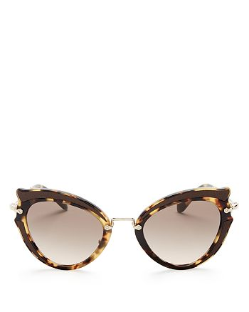 Miu Miu - Women's Cat Eye Sunglasses, 42mm