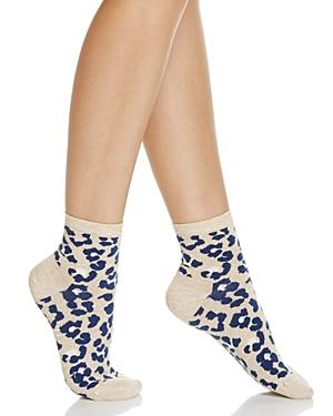 Happy Socks Combed Leopard Ankle Socks