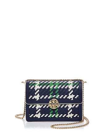 e69eaa1dc2e Tory Burch Duet Chain Convertible Woven Leather Shoulder Bag ...
