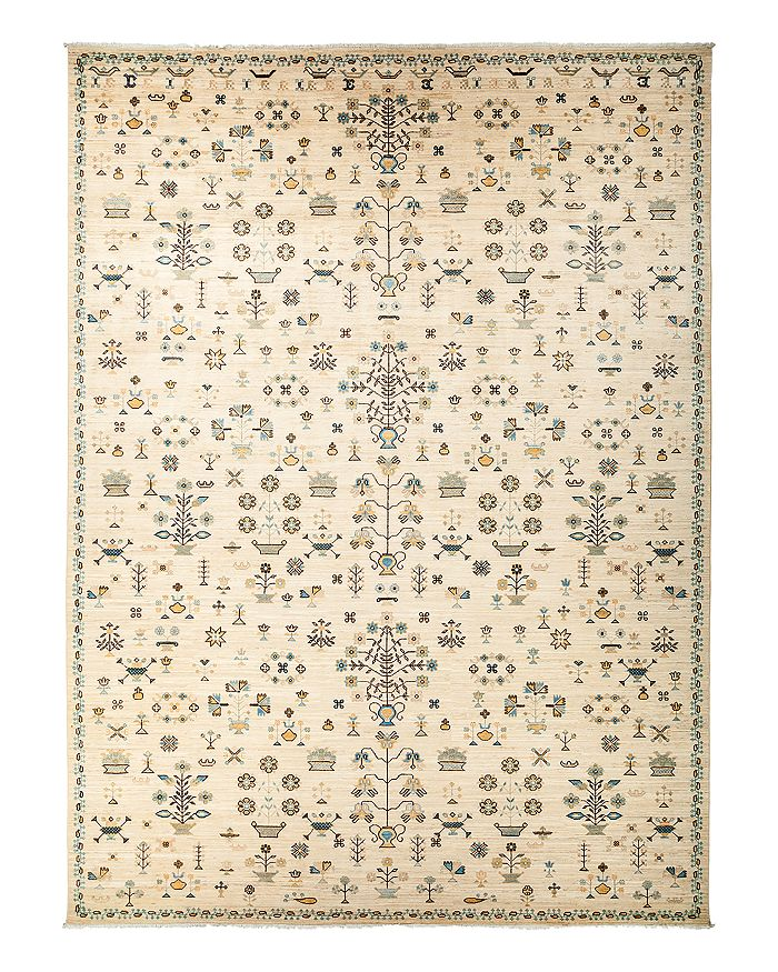 """Solo Rugs - Eclectic Area Rug, 10'1"""" x 13'10"""""""
