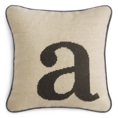 $Sparrow & Wren Letter Needlepoint Decorative Pillow, 12