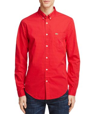 Lacoste Gingham Regular Fit Button-Down Shirt 2496858