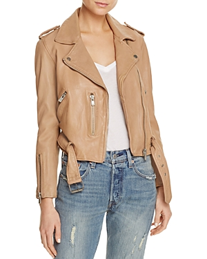 Linea Pelle Washed Leather Moto Jacket