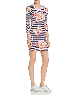 French Connection Tim Tim Cold-Shoulder Dress