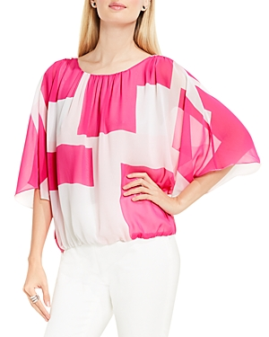 Vince Camuto Geo Print Batwing Top