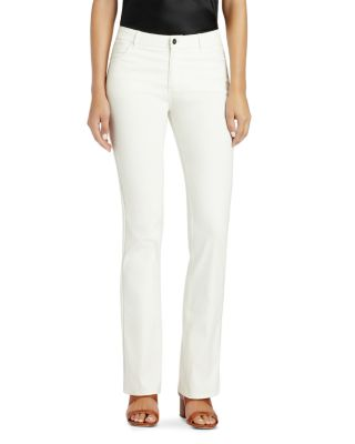 Thompson Dynamic Herringbone Jacquard Slim-Leg Jeans in White