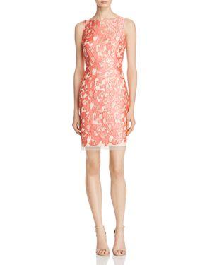 Aidan Mattox Sleeveless Lace Cocktail Dress